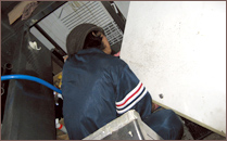 冷蔵庫、キッチン、床の大掃除。